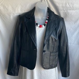 Woman's leather jacket Petite Small